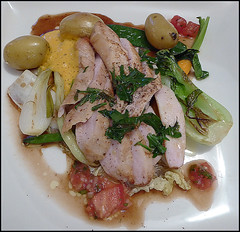 Filetto di coniglio su un letto di verdure (ninin 50) Tags: menu bellinzona compleanno ninin filettodiconiglio osteriamistral