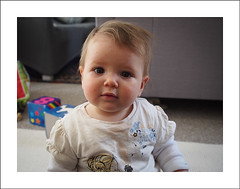 Chickenpox II (Christa (ch-cnb)) Tags: uk england baby sarah norfolk olympus norwich pro chickenpox zuiko eastanglia omd elevenmonths em5 microfourthirds mzd1240mm