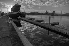 MyCanon Port Adelaide 206 (C J Graham) Tags: sunset sea blackandwhite bw cloud reflection blackwhite ship horizon monotone cloudporn clipper mycanon cityofadelaide canoncollective canoncollectiveportadelaidecanon7d