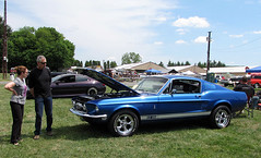 Phoenixville Car Show Ford Mustang Shelby GT 350 (Speeder1) Tags: auto show blue classic ford chevrolet car buick gm pennsylvania muscle may 350 shelby dodge 24 pontiac gto mopar mustang gt coronet dart oldmobile 442 cutlass fastback 2015 phoenixville