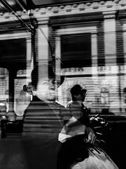 FACADE TRANSITION (Galantucci Alessandro) Tags: street city portrait people blackandwhite bw white black monochrome contrast photography monocromo town eyecontact europa europe strada fotografie gente candid streetphotography documentary east persone romania alb grainy fotografia bianco ritratto nero biancoenero est città cluj clujnapoca contrasto oameni oras negru monocrom documentar albsinegru fotografiadistrada fotografiedestrada portretu documentaristica