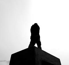 Walking Monument No. 1 (marcel.lewandowsky) Tags: street people blackandwhite bw man public monochrome contrast canon germany dark blackwhite hamburg streetphotography streetphoto bandw bnw kontraste canoneos700d