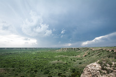 Rain in Valley (Nathan Hillis Photography) Tags: road blue sky west clouds america texas open wide dry plains grassland