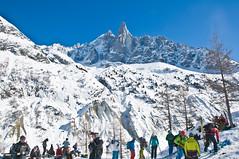 Almost down into the Chamonix Valley (wesbl) Tags: travel italy ski france alps switzerland europe skiing geneva backcountry chamonix montblanc offpiste backcountryskiing chamonixmontblanc