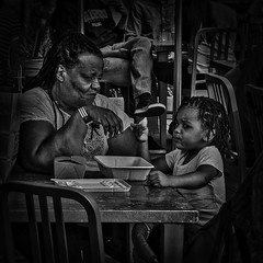 """The Art Of Motherhood Involves Self-Denial And Devotion To Another"", George Washington University District, Washington, DC (Gerald L. Campbell) Tags: life street bw woman love kids digital washingtondc blackwhite dc citylife streetphotography squareformat spirituality aloneness injustice socialdocumentary indifference yearning alienation inequality spiritualindifference iphone6plus canong7x"
