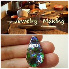 Item Code: SPA017 (The Ammolite) Tags: rock fossil handmade jewelry jewellery ammonite gemstone ammolite