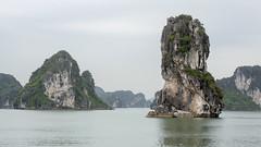 Ha Long Spire (oruwu) Tags: ocean sea rock bay vietnam spire land limestone halong