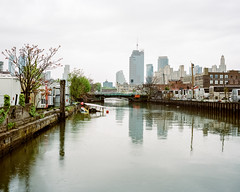 Gowanus Canal Pollution (danielfoster437) Tags: nyc newyorkcity newyork photo industrial image urbandecay picture pollution gowanuscanal environment gowanus waterway superfund polluted industrialization mamiya7 waterpollution medumformat environmentalpollution industrialpollution superfundsite factorypollution meinfilmlab wwwmeinfilmlabde gowanuscanalpollution newyorkpollution