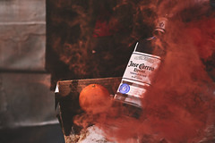 Jos Cuervo (charlie rocket photography) Tags: party orange color contrast bottle smoke tequila product brand