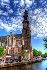 Westerkerk in the Spring (Tryppyhead) Tags: church amsterdam spring thenetherlands hdr jordaan westertoren westerkerk 2016 nikond7200