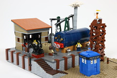 Steam Engine - Dr Who Layout 2015 (workfromtheheart) Tags: station train who dr shed engine steam kettle doctor trainstation boiler steamengine dokter steampunk docter