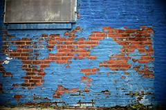 Map (John Donges) Tags: blue brick philadelphia wall peeling paint industrial factory warehouse exposed 4079 graysferryavenue