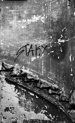 stark (dumond79) Tags: city white black france wall ruin staircase urbex