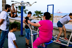 IMG_0460 (andreastsel) Tags: street city sunset sea summer sky people music sun man streets colour love beach girl face kids canon children fun photography chair couple day shadows child grandmother pavement deep documentary cyprus chase noface gym canid
