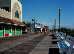 rehoboth beach / boardwalk (bluebird87) Tags: mamiya film beach kodak boardwalk epson 100 delaware v600 rehoboth ektar c41 m645 dx0