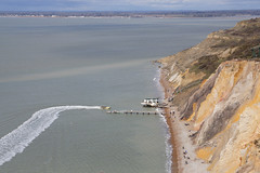 Alum Bay, Isle of Wight (Neil Pulling) Tags: island bay sand cliffs vectis isleofwight solent alum alumbay
