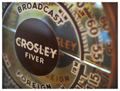 Crosley Fiver (daveelmore) Tags: crosley fiver crosleyfiver radio antique vintage dial channels lumixleicadgsummilux25mm114