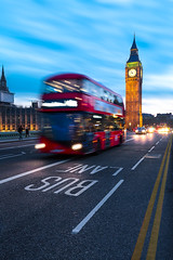 The red bus and the clock (Matthieu Plante) Tags: light sunset london clock canon united kingdom bigben 6d