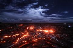 0446 - USA, Hawaii, Lava Flow (Barry Mangham) Tags: usa night flow fire hawaii lava