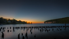 Blue Hour of an Abandoned Bay (Love Any Kind of Photography) Tags: sunset lake water up landscape spring michigan lakemichigan fayette waterscape yooper 2016 fayettehistoricstatepark