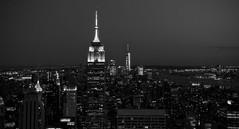 Manhattan Skyline (benjalecaros) Tags: manhattan empire state rockefeller one world trade center wtc long exposure nyc new york
