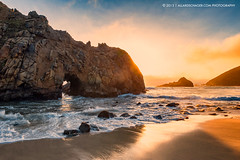 Pfeiffer Beach (Allard Schager) Tags: california sunset usa seascape beach rock cali landscape us sand waves unitedstates pacific bigsur pacificocean coastline pfeifferbeach beautyinnature 2013 verenigdestaten nikond700 nikkor2470mmf28 allardschager