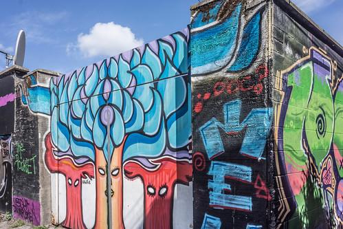 STREET ART IN DUBLIN - CABRA PARK URBAN GALLERY [A REALLY UGLY LANE]-104055