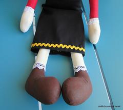 Olívia (Crafts by Sandra Kecek) Tags: cute doll craft bonecadepano feitoamão fabricdolls