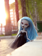 warm evening (tehhishek) Tags: sunset black monster evening spring high model warm doll zombie couture mattel haunt guliya
