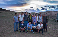 Our Mongolian friends in the evening