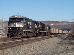 NS 539. March 29, 2015 (Jacob Kempf) Tags: railroad train track coal norfolksouthern