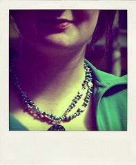 turquoise (PROD) Tags: woman face necklace gesicht turquoise frau pola kette trkis poladroid