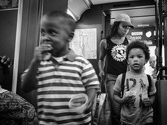D7K_2355-2_epgs (Eric.Parker) Tags: nyc boy bw ny newyork bus girl daughter mother son bigapple 2014
