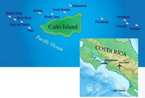 Cano Island Map