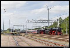 VSM 23 076 + 23 071 - Amsterdam Westhaven (Spoorpunt.nl) Tags: amsterdam 23 mei trein westhaven stoom 2015 locomotief vsm 071 076 baureihe westfalendampf westhavenweg