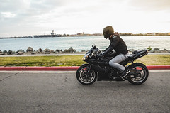 DSC_7097 (Steven Lenoir) Tags: ocean sea marina bay sandiego sd yamaha r1 sportbike harborisland dab superbike supersport bayfront streetbike 1000cc yamahar1 dabbing rollingshot teamyamaha