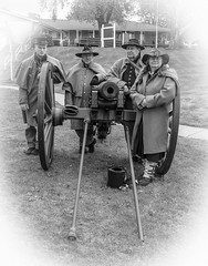 Cannon Crew (Images by MK) Tags: wisconsin army was us gun fort military indian cannon wi defense firing territory sixpound usarmy prairieduchien indianwars initedstates indianbureau ftcrawford