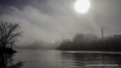 First Fog of 2016 - fog clearing off Victoria Island. (gregoryscottclarke photography) Tags: river spring downtown ottawa rideaucanal victoriaisland thelocks