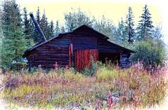 Old cabin - Alaska (JLS Photography - Alaska) Tags: old building art alaska architecture america landscape landscapes artwork cabin funny artistic outdoor digitalart logcabin digitalmanipulation lastfrontier alaskalandscape jlsphotographyalaska