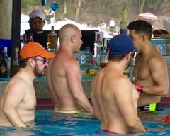 IMG_1532 (danimaniacs) Tags: shirtless man hot sexy guy water hat beard mexico back hunk swimmingpool cap puertovallarta stud scruff