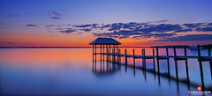 Florida Life: Hutchinson Island Pier Sunset (Thncher Photography) Tags: sky nature colors clouds reflections landscape outdoors pier shadows florida sony scenic silhouettes stuart fullframe fx waterscape indianriver martincounty oceanscape hutchinsonisland palmcity southeastflorida zeissfe1635mmf4zaoss a7r2 ilce7rm2 sonya7r2
