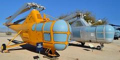 1940s Sikorsky SAR Dragonflies: USAF H-5G, USCG HO3S-1 - Pima Air & Space Museum, Tucson, Arizona.. (edk7) Tags: arizona usa us chopper tucson aircraft aviation military helicopter usaf copter sar coldwar koreanwar postwar uscg searchandrescue unitedstatesairforce nikond3200 unitedstatescoastguard rotorcraft pimaairspacemuseum 2013 arizonaaerospacefoundation sikorskyho3s1 n9845z n4925e sikorskyh5g edk7 sikorskys51dragonfly sn480548 snuscg232 leftsidehoist prattwhitneyr985an5waspjuniorninecylinderradial450hp