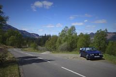 The Dukes pass (route9autos.co.uk) Tags: mountains classic car vw golf volkswagen scotland pass views roads loch cabrio clipper dukes callander cabriolet aberfoyle mk1