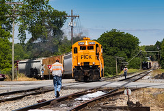 Pickens at Anderson,SC (Kyle Yunker) Tags: railroad baby boat ns norfolk southern anderson pick ge interchange pickens u18b