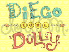 diegodollycalligraphywatermark (venelopedoll) Tags: cute art love letters font alphabet calligraphy
