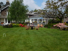 Dad in his usual position, sunbathing (quintinsmith_ip) Tags: flowers grass hotel grasmere grounds wordsworth wordsworthhotelandspa