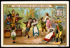 Liebig Tradecard S620 - National Dances, Germany (cigcardpix) Tags: tradecards advertising ephemera vintage liebig chromo dancing