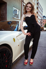 Speed (fredrik.t) Tags: woman girl car fashion female speed wow photography sweden stockholm fashionphotography editorial lithuanian swedishgirl ilovemyjob lithuaniangirl swedishmodel