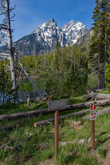String Lake Trail Sign (Plain Adventure) Tags: mountains wyoming grandtetonnationalpark