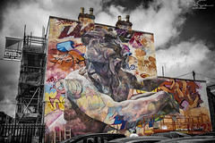 upfest 2016 large graffiti painting (Daz Smith) Tags: dazsmith canon6d bw blackwhite blackandwhite bath city streetphotography people candid canon portrait citylife thecity urban streets uk monochrome blancoynegro upfest bristol 2016 graffiti art spray mural